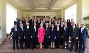 The newly sworn in Ministry of the Abbott government