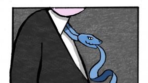 blue ties snake