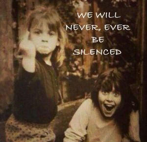 we will never be silenced
